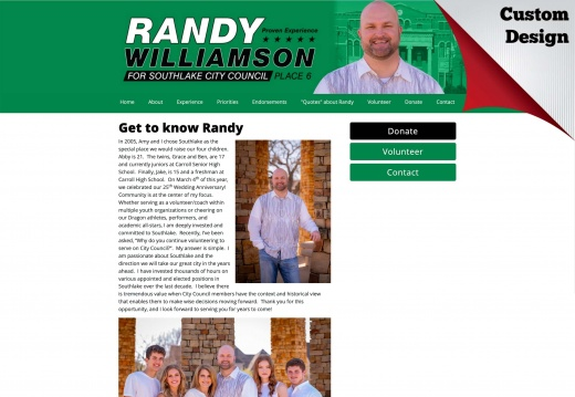Randy Williamson for Southlake City Council, Place 6