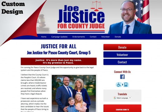 Joe Justice for Pasco County Court, Group 5
