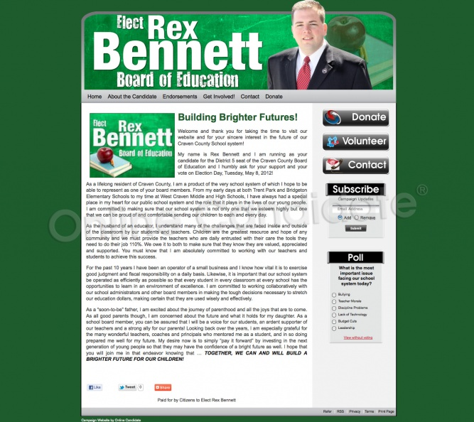 Rex Bennett for Craven County Board of Education