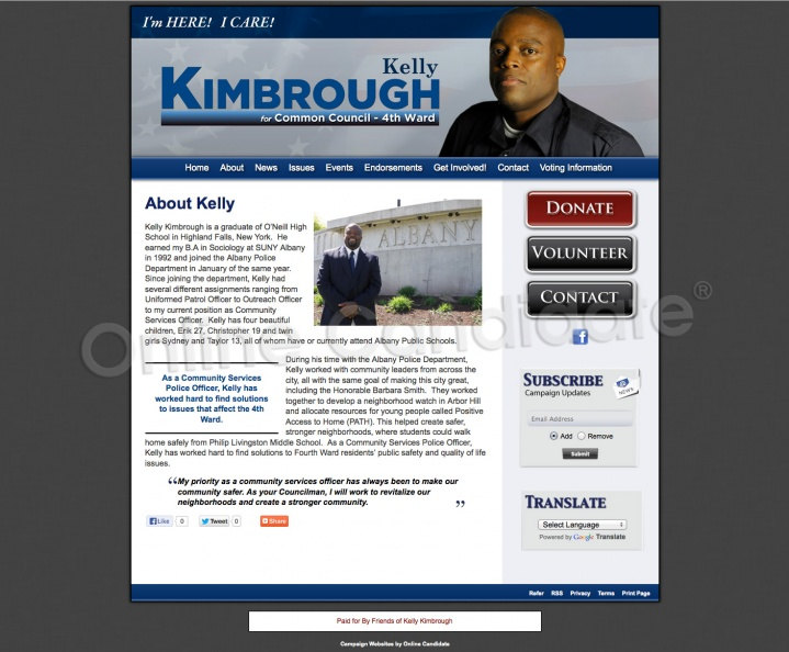 Kelly Kimbrough for Albany Common Council 4th Ward
