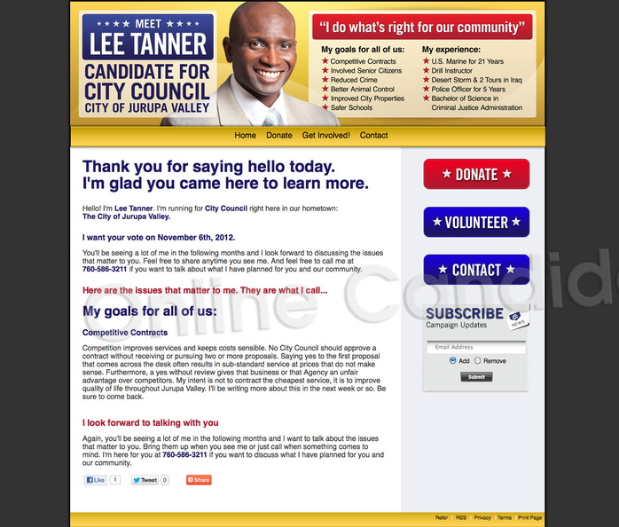 Lee Tanner for Jurupa Valley City Council