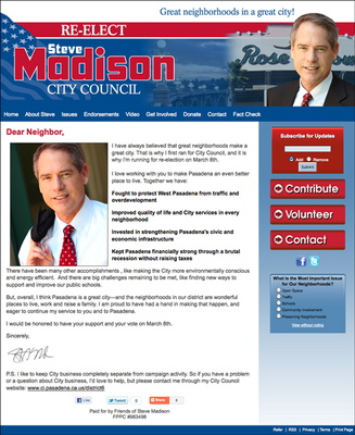 Steve Madison for Pasadena City Council