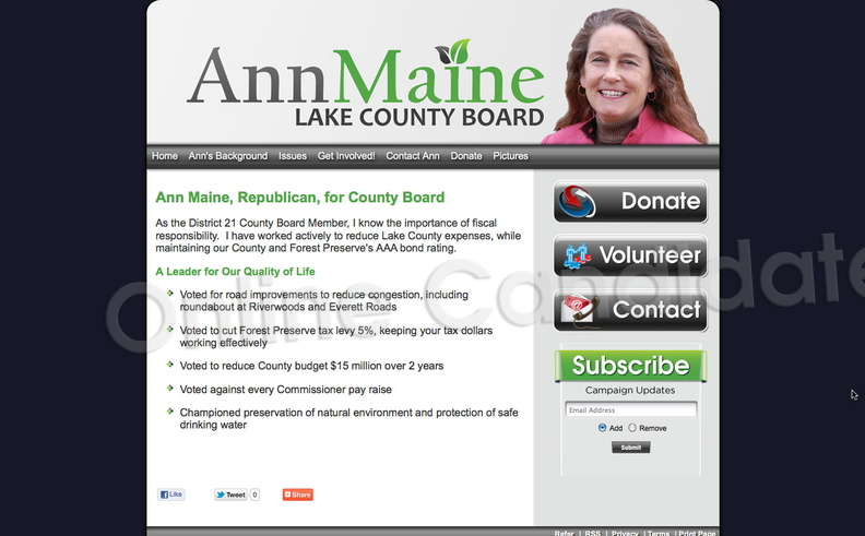 Ann Maine for Lake County Board