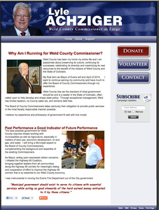 Lyle Achziger for Weld County Commissioner at Large