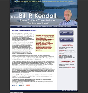 Re-Elect Bill P Kendall for Towns County Commissioner