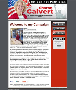 Sharon H Calvert, Republican Candidate for Hillsborough County Commission -