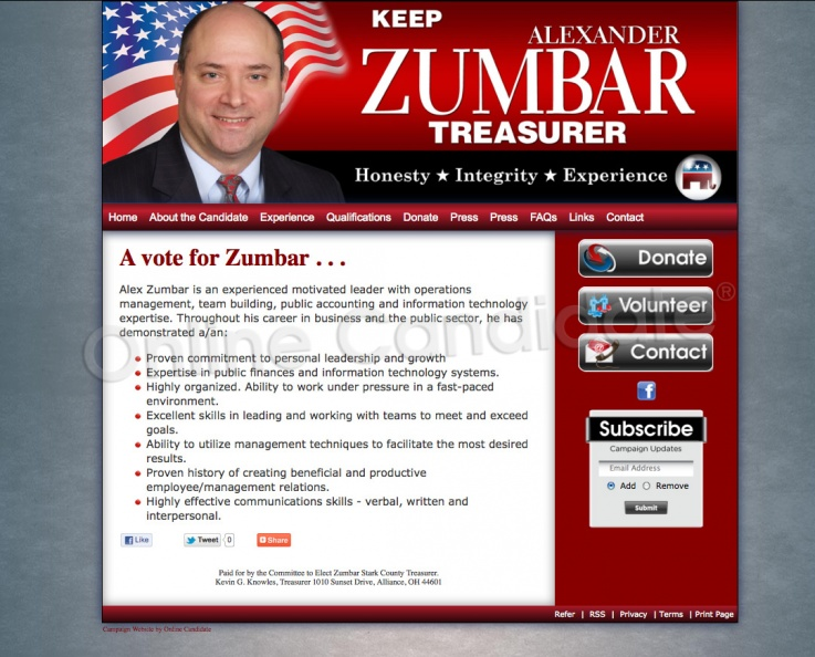 Alex Zumbar for Stark County Treasurer
