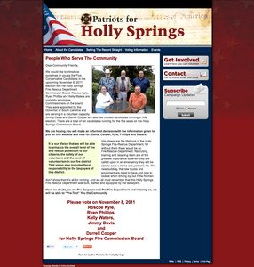 Patriots for Holly Springs Fire-Rescue Department Commission Campaign