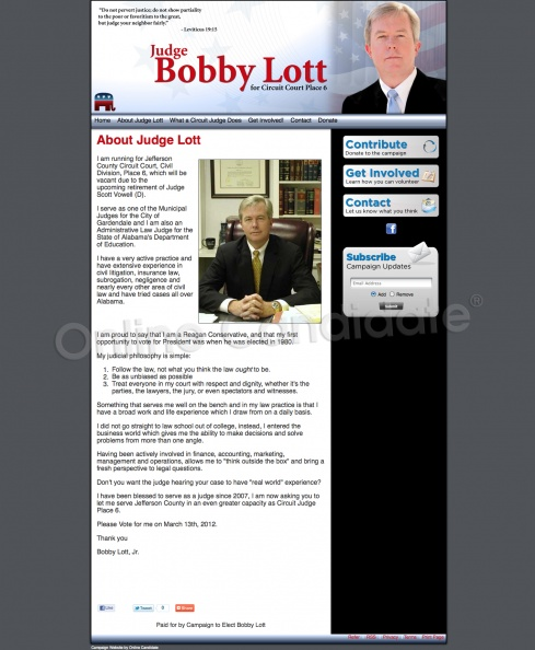 Judge Bobby Lott for Circuit Court Place 6