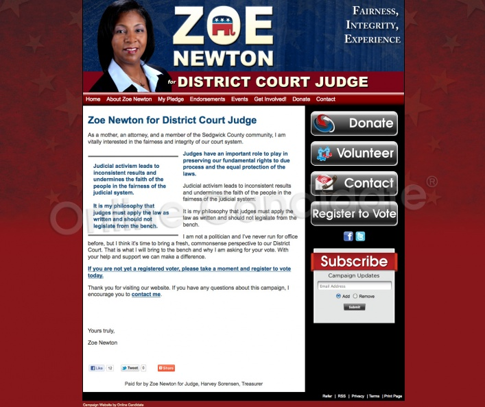 Zoe Newton for District Court Judge