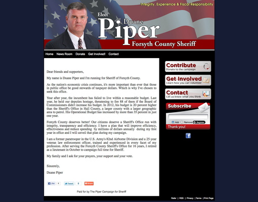 layout of a letter campaign website design examples candidate 22712