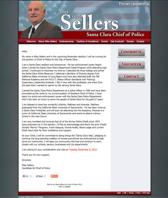 Mike Sellers for Chief of Police for the City of