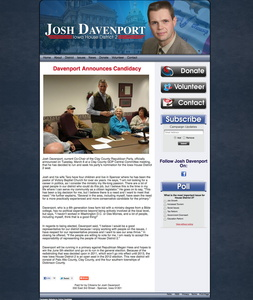 Josh Davenport Iowa House District 2