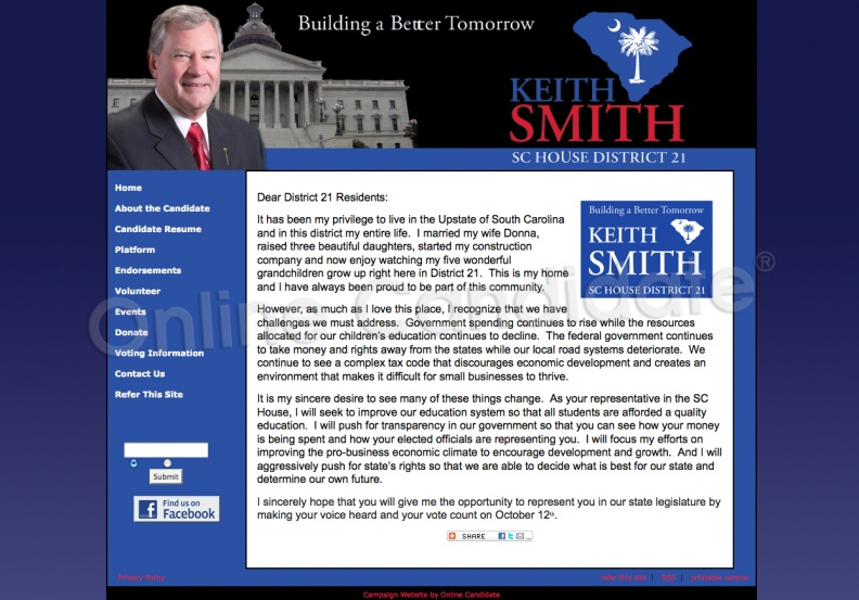Kevin Smith for South Carolina House of Representatives - District
