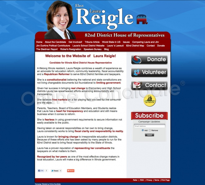 Laura Reigle for Illinois State Representative - 82nd District