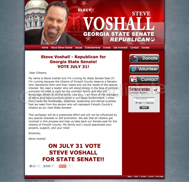 Steve Voshall for Georgia State Senate