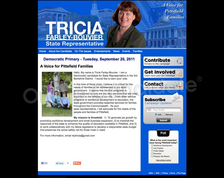 Tricia Farley-Bouvier for Massachusetts State Representative in the 3rd Berkshire
