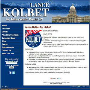 Lance Kolbet for Idaho Senate District 29 Election