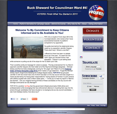 Buck Sheward for Councilman Ward 4