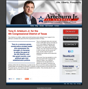 Tony E Arteburn Jr for the 4th Congressional District of