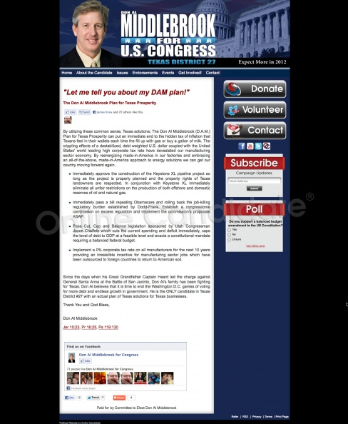 Don Al Middlebrook for US Congress