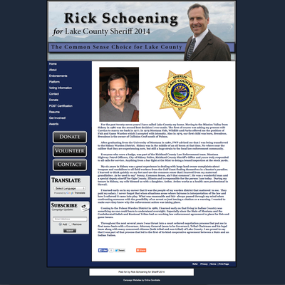 Rick Schoening for Sheriff