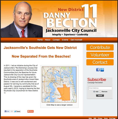Danny Becton, Jacksonville City Council, District 11