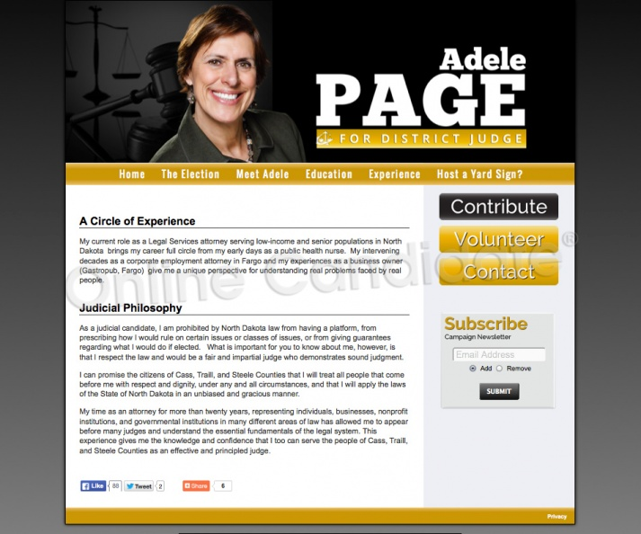 Adele Page for East Central District Judge