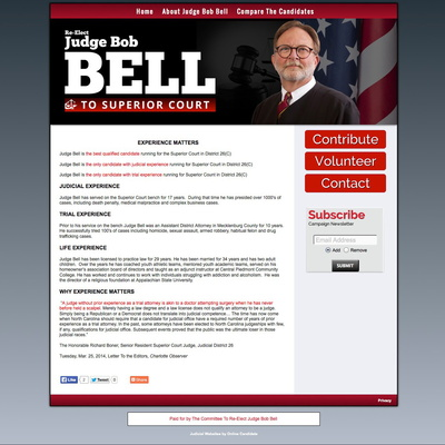 Re Elect Judge Bob Bell to Superior Court