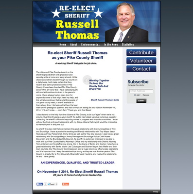 Re Elect Sheriff Russell Thomas