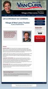 Sally M Van Cura for the Village of New Lenox Trustee