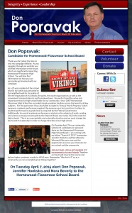 Don Popravak for Homewood-Flossmoor School Board