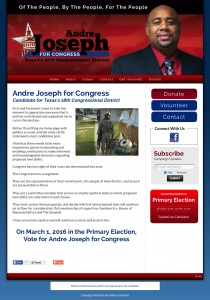 Andre Joseph for Congress Candidate for Texas 18th Congressional District