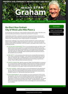 Re-Elect Stan Graham City of West Lake Hills Place 3