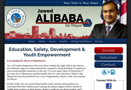 Mayor Websites - example gallery