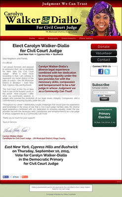 Carolyn Walker-Diallo for Civil Court Judge