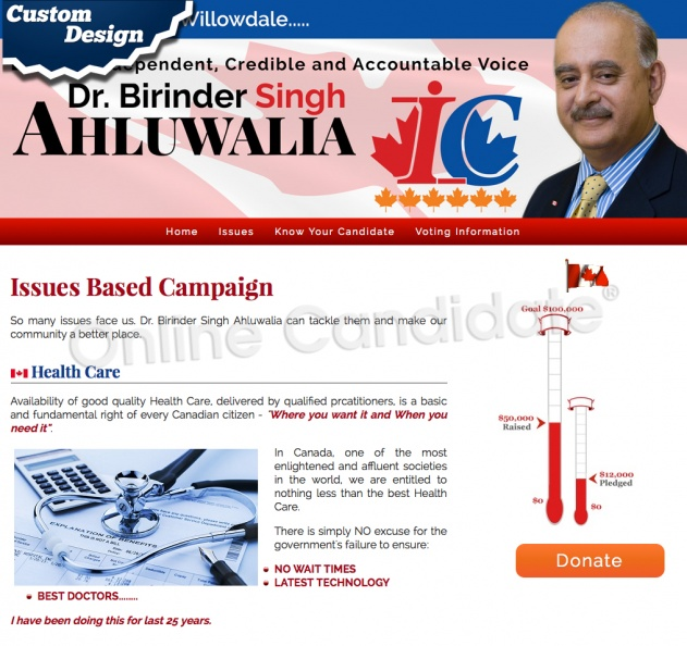 Dr. Birinder Singh Ahluwalia for Willowdale