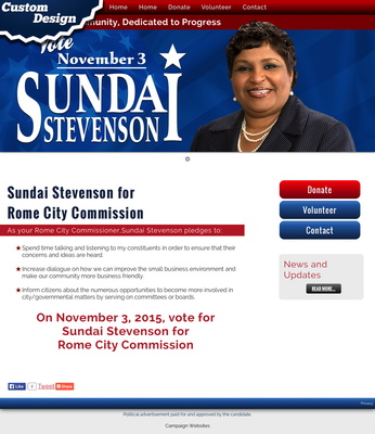 Sundai Stevenson for Rome City Commission