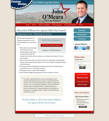 John O'Meara For Agoura Hills City Council