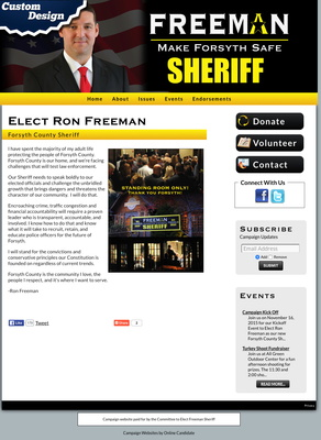 Ron Freeman for Forsyth County Sheriff