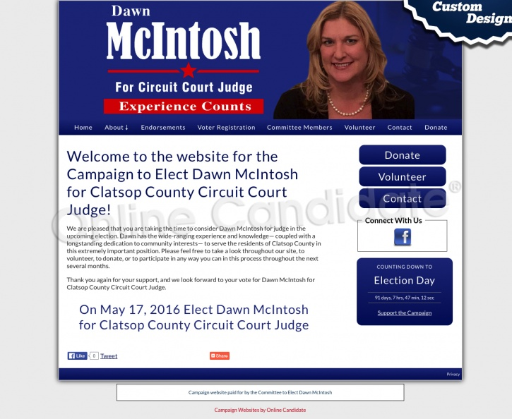 Elect Dawn McIntosh for Clatsop County Circuit Court Judge