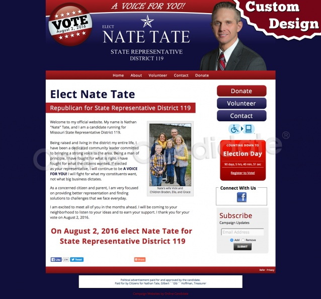 Nate Tate for State Representative District 119