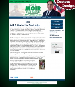 Keith E Moir for 23rd Circuit Judge