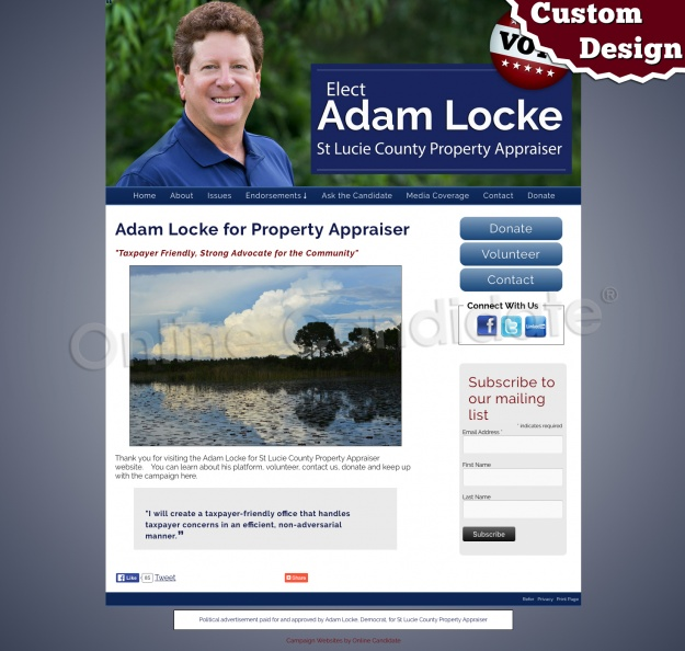 Adam Locke for Property Appraiser
