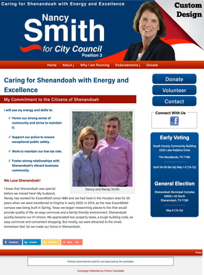 Nancy Smith for Shenandoah City Council Position 3