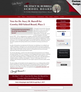 Dr. Stacy M. Burrell for     Crowley ISD School Board, Place 2
