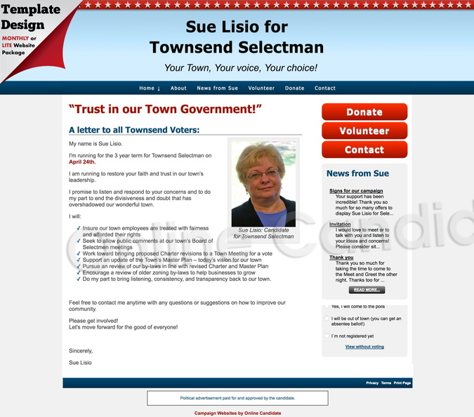 Sue Lisio for Townsend Selectman