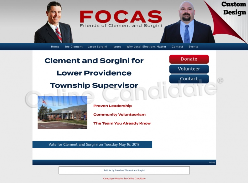 Joe Clement and Fason Sorgini for Lower Providence Township Supervisor