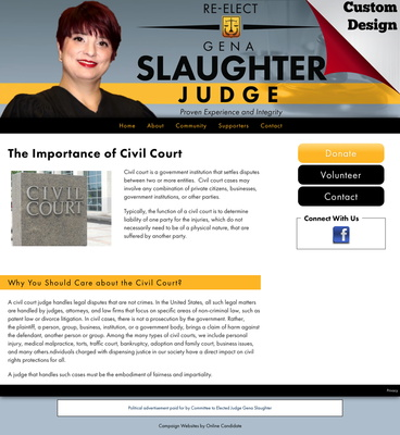 Re-elect Judge Gena Slaughter