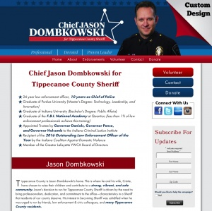 Chief Jason Dombkowski for Tippecanoe County Sheriff
